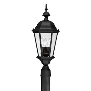 Capital Lighting Carriage House 9725BK 3 Light Outdoor Post Fixture in Black