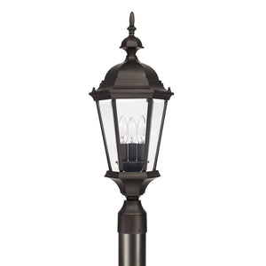 Capital Lighting Carriage House 9725OB 3 Light Outdoor Post Fixture in Old Bronze