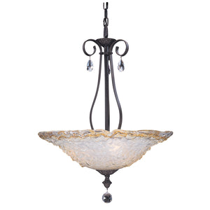 3 Light Mahogany Bronze Liebestraum Pendant by Framburg F-9730 MB