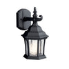 Townhouse 1 Light Outdoor Wall Sconce in Black Finish by Kichler 9788BK