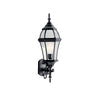Townhouse 1 Light Outdoor Wall Sconce in Black Finish by Kichler 9791BK