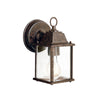 Barrie 1 Light Outdoor Wall Sconce in Tannery Bronze Finish by Kichler 9794TZ