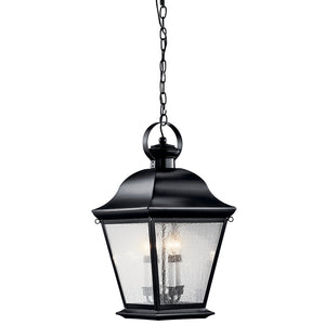Mount Vernon 4 Light Outdoor Hanging Pendant in Black Finish by Kichler 9804BK
