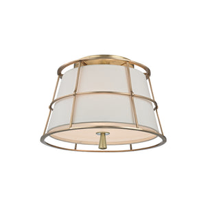Savona 2 Light Semi Flush By Hudson Valley 9814-AGB in Aged Brass Finish