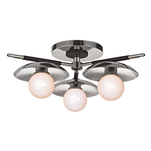 Julien 3 Light Semi Flush By Hudson Valley 9823-PN in Polished Nickel Finish