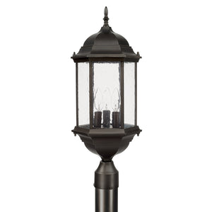 Capital Lighting Main Street 9837OB 3 Light Post Lantern in Old Bronze
