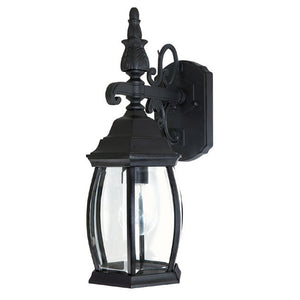 Capital Lighting French Country 9866BK 1 Light Outdoor Wall Lantern in Black