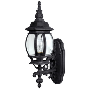 Capital Lighting French Country 9867BK 1 Light Outdoor Wall Lantern in Black