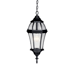 Townhouse 1 Light Outdoor Hanging Pendant in Black Finish by Kichler 9892BK