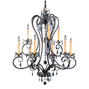 9 Light Mahogany Bronze Liebestraum Dining Chandelier by Framburg F-9909 MB