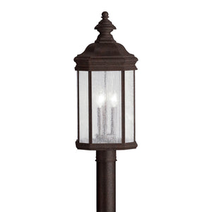 Kirkwood 3 Light Outdoor Post Lantern in Tannery Bronze Finish by Kichler 9918TZ