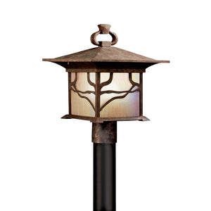 Morris 1 Light Outdoor Post Lantern in Distressed Copper Finish by Kichler 9920DCO