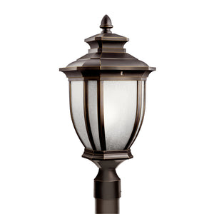 Salisbury 1 Light Outdoor Post Lantern in Rubbed Bronze Finish by Kichler 9938RZ