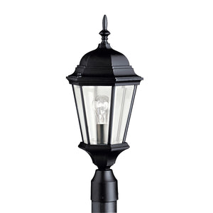 Madison 1 Light Outdoor Post Lantern in Black Finish by Kichler 9956BK