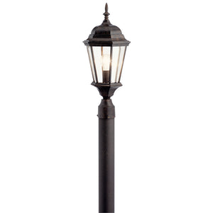 Madison 1 Light Outdoor Post Lantern in Tannery Bronze Finish by Kichler 9956TZ
