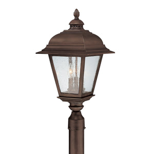 Capital Lighting Brookwood 9967BB 3 Light Outdoor Post Fixture in Burnished Bronze