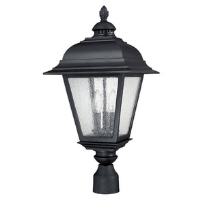 Capital Lighting Brookwood 9967BK 3 Light Outdoor Post Fixture in Black