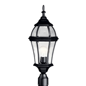 Townhouse 1 Light Outdoor Post Lantern in Black Finish by Kichler 9992BK