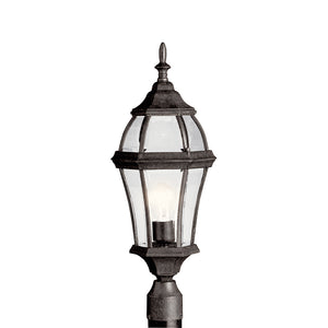 Townhouse 1 Light Outdoor Post Lantern in Tannery Bronze Finish by Kichler 9992TZ