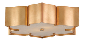 Grand Lotus Gold Flush Mount by Currey and Company 9999-0010