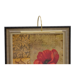 "Advent Profile 16"" Polished Brass Picture Light"