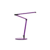 Z-Bar mini Desk Lamp with Metallic Black wall mount (Warm Light; Purple) AR3100-WD-PUR-WAL