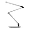 Z-Bar mini Desk Lamp with wireless charging Qi Base (Cool Light; Silver) AR3100-CD-SIL-QCB