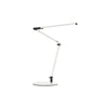 Z-Bar mini Desk Lamp with two-piece desk clamp (Warm Light; White) AR3100-WD-WHT-2CL