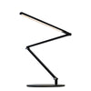 Z-Bar slim Desk Lamp with through-table mount (Warm Light; Metallic Black) AR3200-WD-MBK-THR