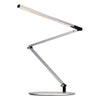 Z-Bar slim Desk Lamp with slatwall mount (Warm Light; Silver) AR3200-WD-SIL-SLT