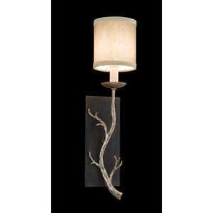 Adirondack 1 Light Wall Sconce By Troy B2841 in Graphite And Silver Leaf Finish
