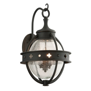 Mendocino 4 Light Outdoor Pendant By Troy B3683 in Forged Black Finish