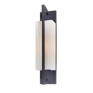 Blade 1 Light Outdoor Wall Sconce By Troy B4015FI in Forged Iron Finish