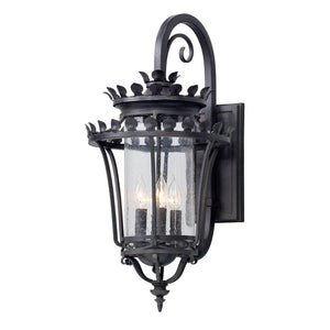Greystone 4 Light Outdoor Pendant By Troy B5133 in Forged Iron Finish