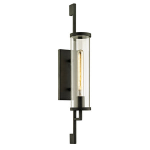 Park Slope 1 Light Outdoor Wall Sconce By Troy B6462 in Forged Iron Finish