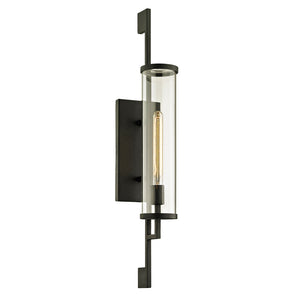 Park Slope 1 Light Outdoor Wall Sconce By Troy B6463 in Forged Iron Finish