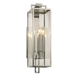 Beckham 3 Light Outdoor Pendant By Troy B6532 in Polished Stainless Finish