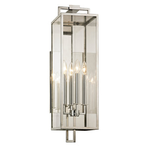 Beckham 4 Light Outdoor Pendant By Troy B6533 in Polished Stainless Finish