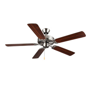 "Homebuilder 52"" Brushed Steel Indoor Ceiling Fan by Monte Carlo Fans BF1-BS"