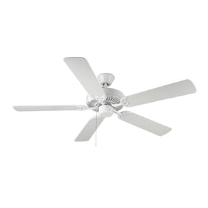 "Homebuilder 52"" White Indoor Ceiling Fan by Monte Carlo Fans BF1-WH"