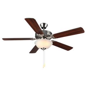 "Homebuilder II 52"" Brushed Steel Indoor Ceiling Fan by Monte Carlo Fans BF2-BS"