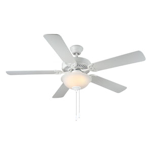 "Homebuilder II 52"" White Indoor Ceiling Fan by Monte Carlo Fans BF2-WH"