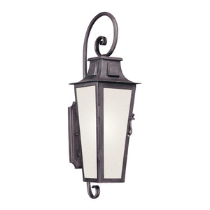 Parisian Square 1 Light Outdoor Pendant By Troy BF2962 in Aged Pewter Finish