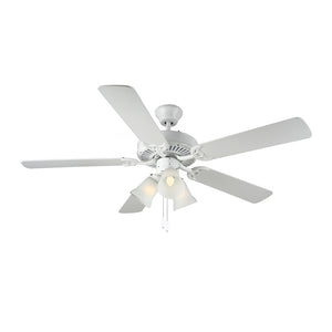 "Homebuilder IIi 52"" White Indoor Ceiling Fan by Monte Carlo Fans BF3-WH"
