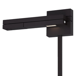Flip LED Left Swing Arm 3000K in Black