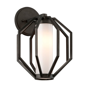 Boundary 1 Light LED Outdoor Pendant By Troy BL4982 in Textured Graphite Finish