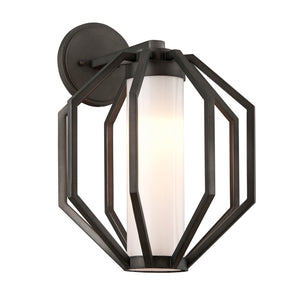 Boundary 1 Light LED Outdoor Pendant By Troy BL4983 in Textured Graphite Finish