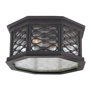 Los Olivos 2 Light Flush Mount By Troy C2370OI in Old Iron Finish