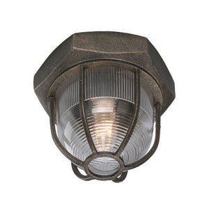 Acme 1 Light Flush Mount By Troy C3890 in Aged Silver Finish