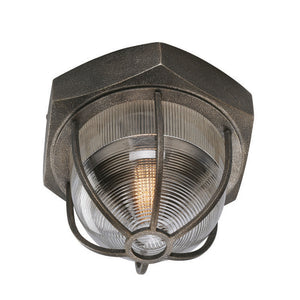 Acme 1 Light Flush Mount By Troy C3891 in Aged Silver Finish